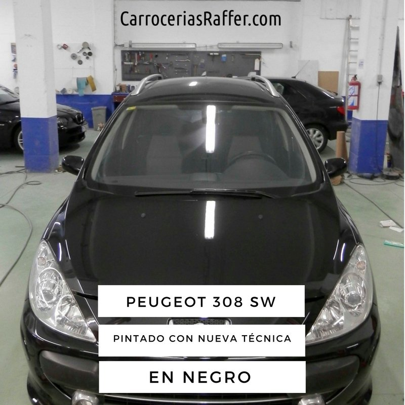 Pintamos un Peugeot 307 SW negro con una nueva técnica