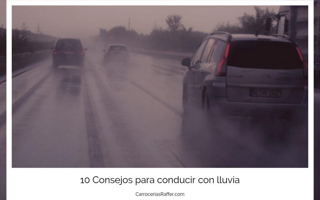 10 Consejos para conducir con lluvia.