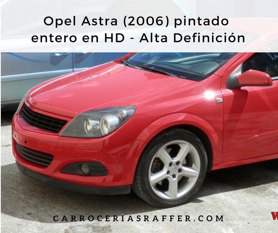 Opel Astra de 2006 pintado entero en HD