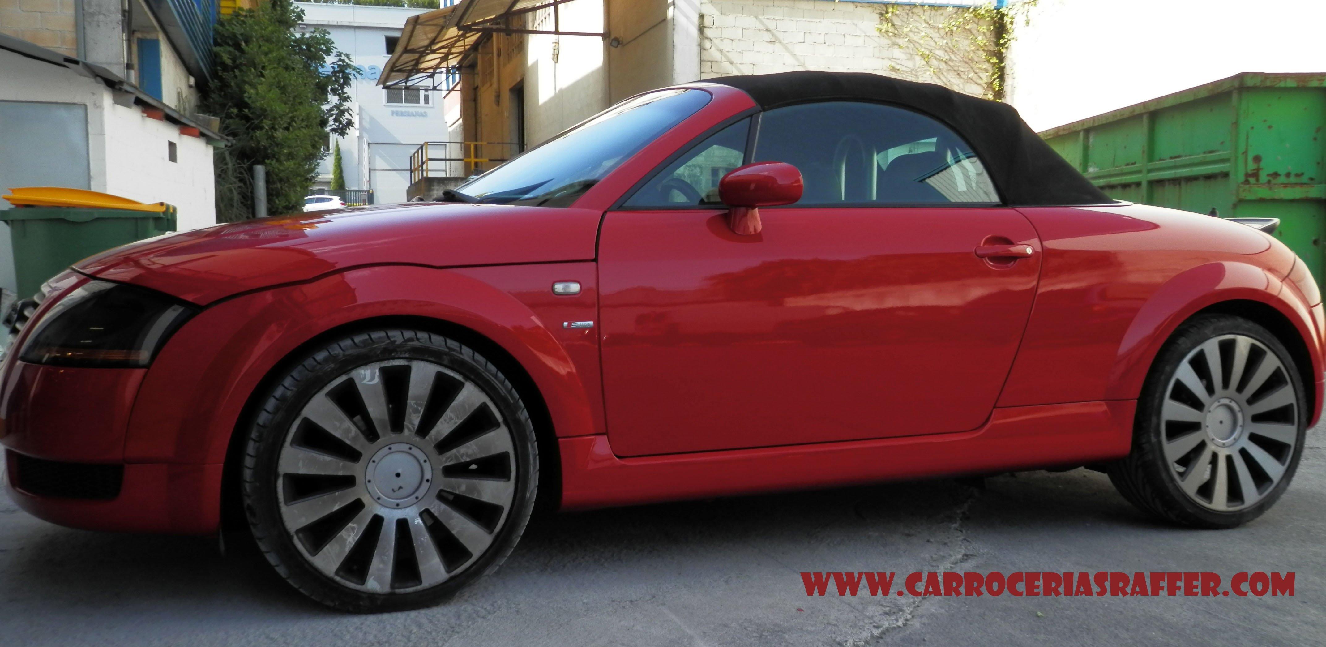 Audi TT Cabrio pintado completo en HD – Alta Definición.