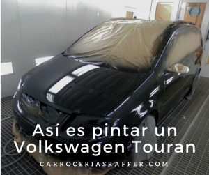 carrocerias raffer pintar entero volkswagen touran negro