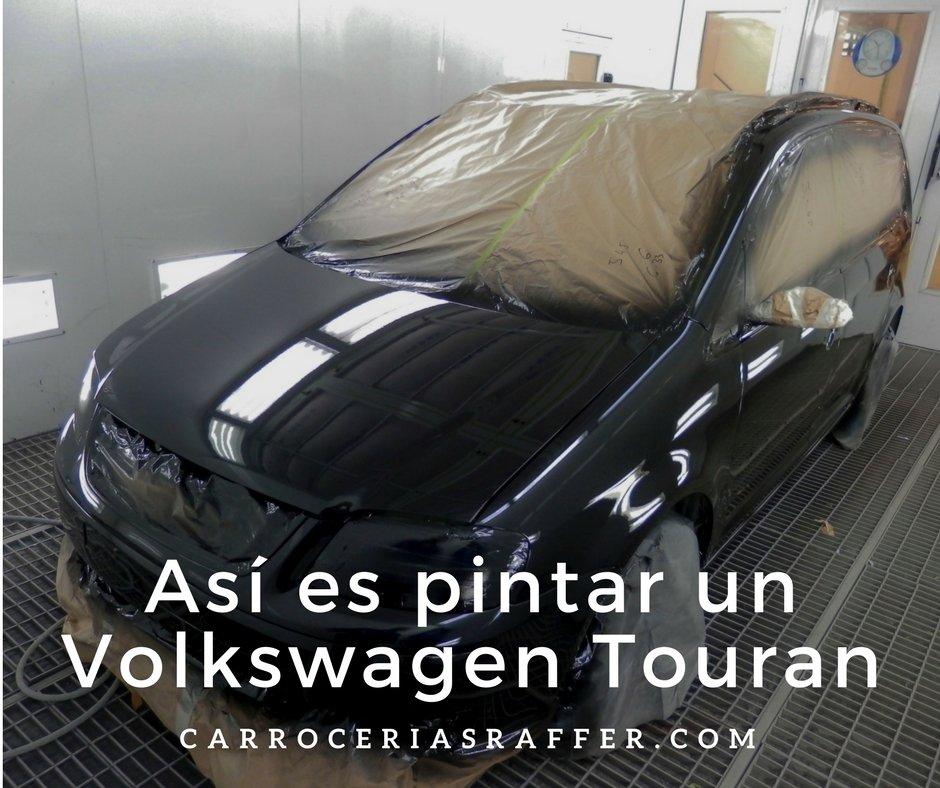 Así es pintar un Volkswagen Touran