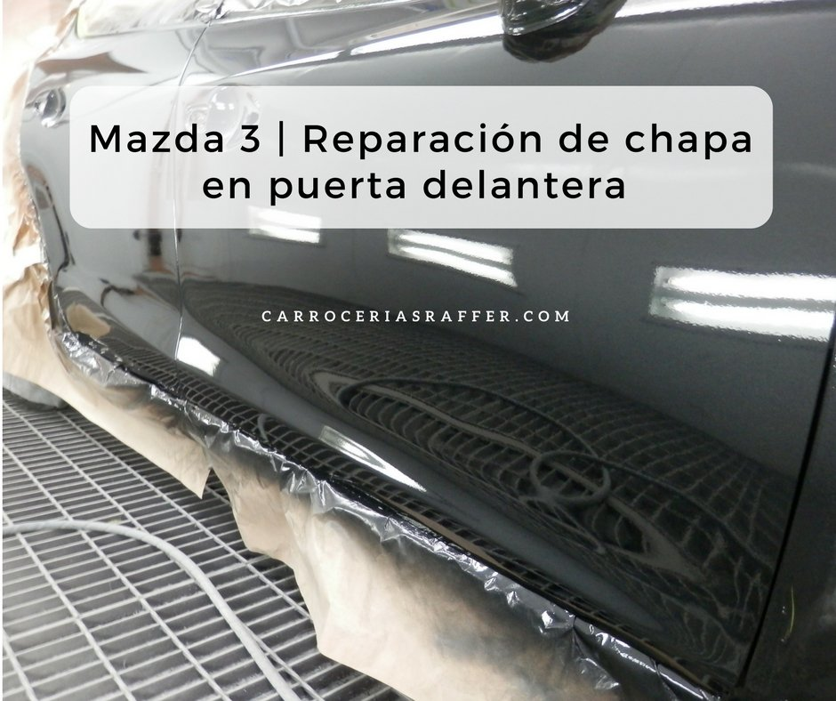 Mazda 3 | Reparación de chapa en puerta delantera
