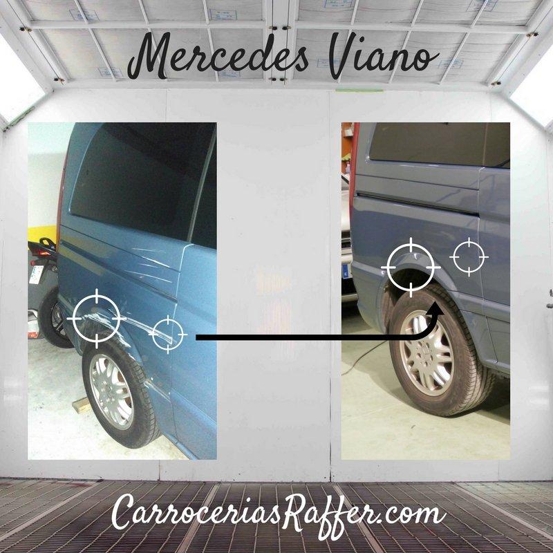 Mercedes Viano | Reparación de aleta trasera derecha