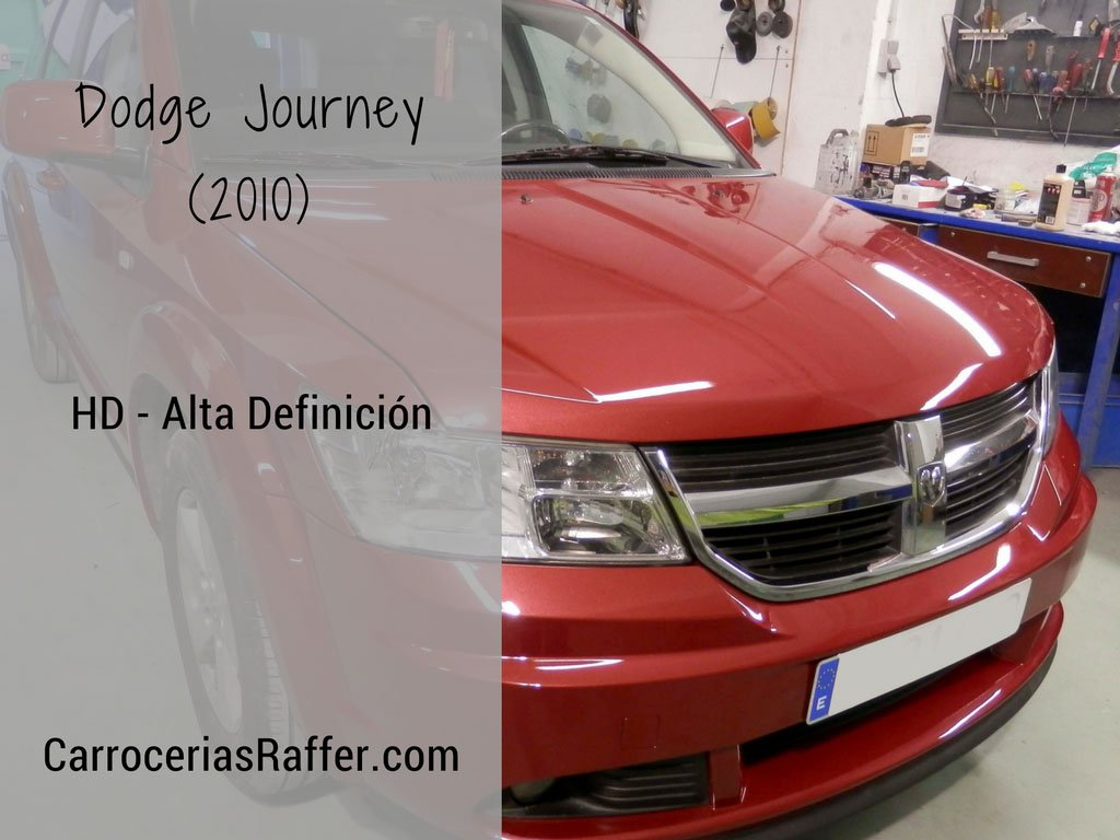 Dodge Journey (2010), restauración y pintado completo en HD