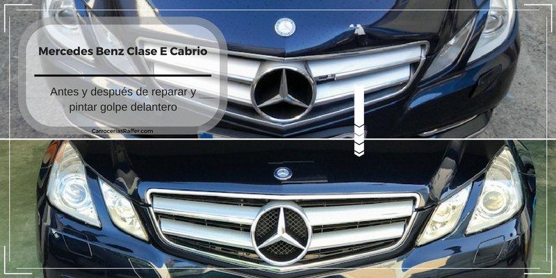 Antes y después de reparar un Mercedes Benz Clase E Cabrio