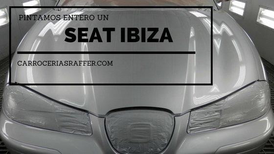 Así queda este Seat Ibiza después de pintar todo el coche
