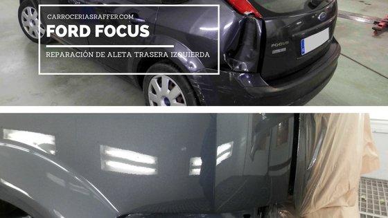 Ford Focus | Reparación de golpe en aleta trasera