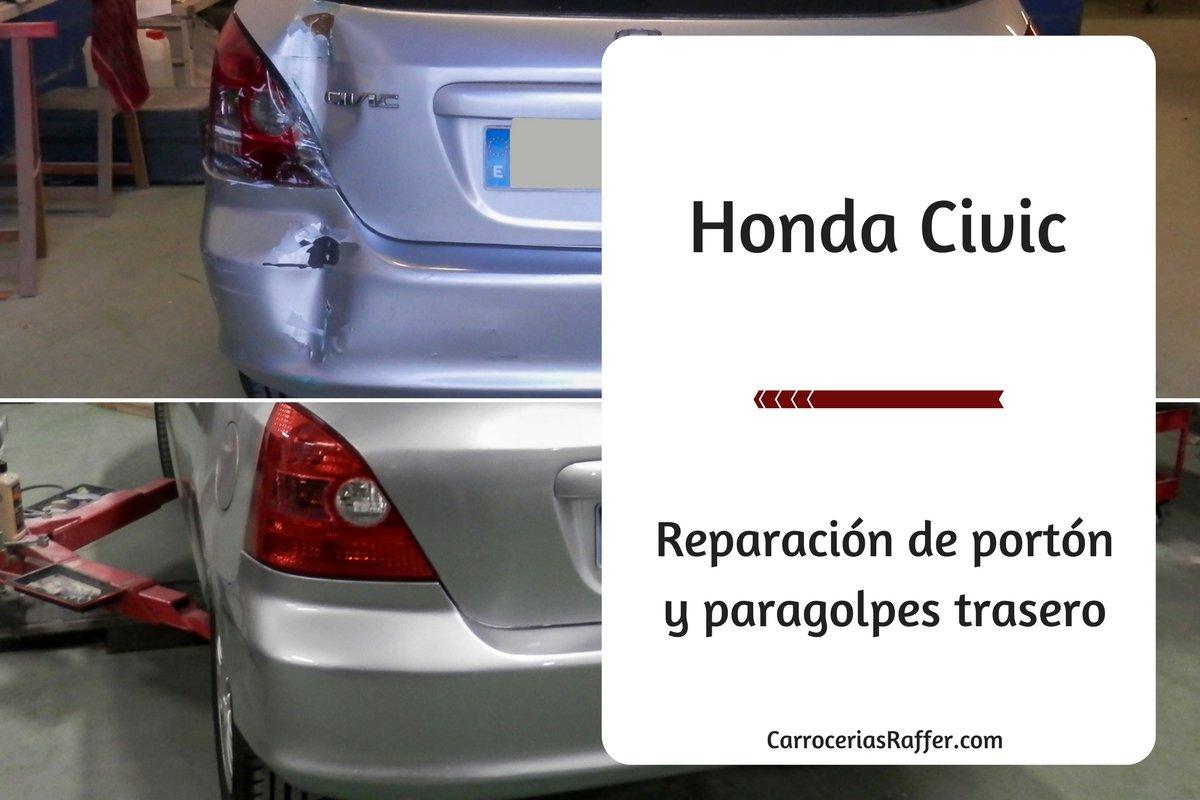 Honda Civic: Portón y paragolpes trasero