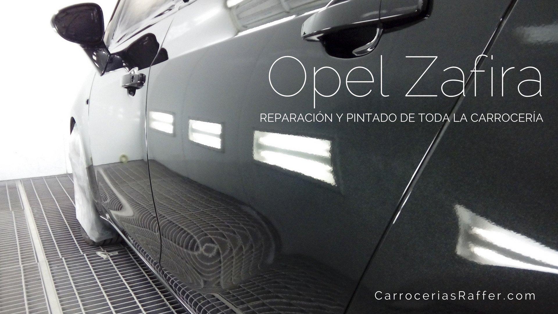 Reparación y pintado de toda la carrocería. Opel Zafira (2016)