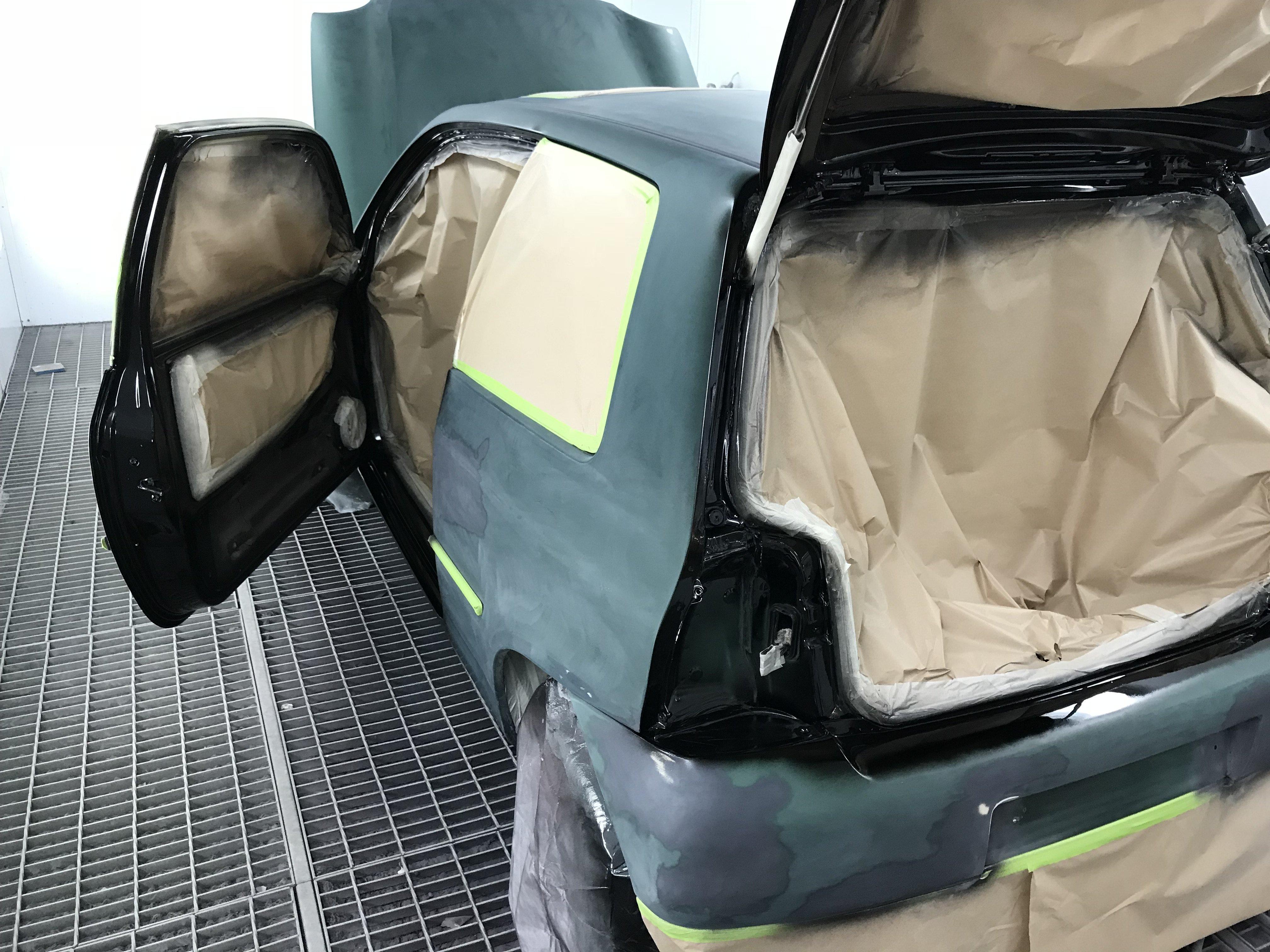 0 volkswagen lupo cambiado de color de verde a negro