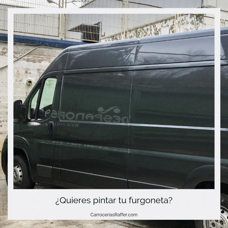 quieres pintar tu furgoneta carrocerias raffer taller de chapa y pintura hernani donostia gipuzkoa