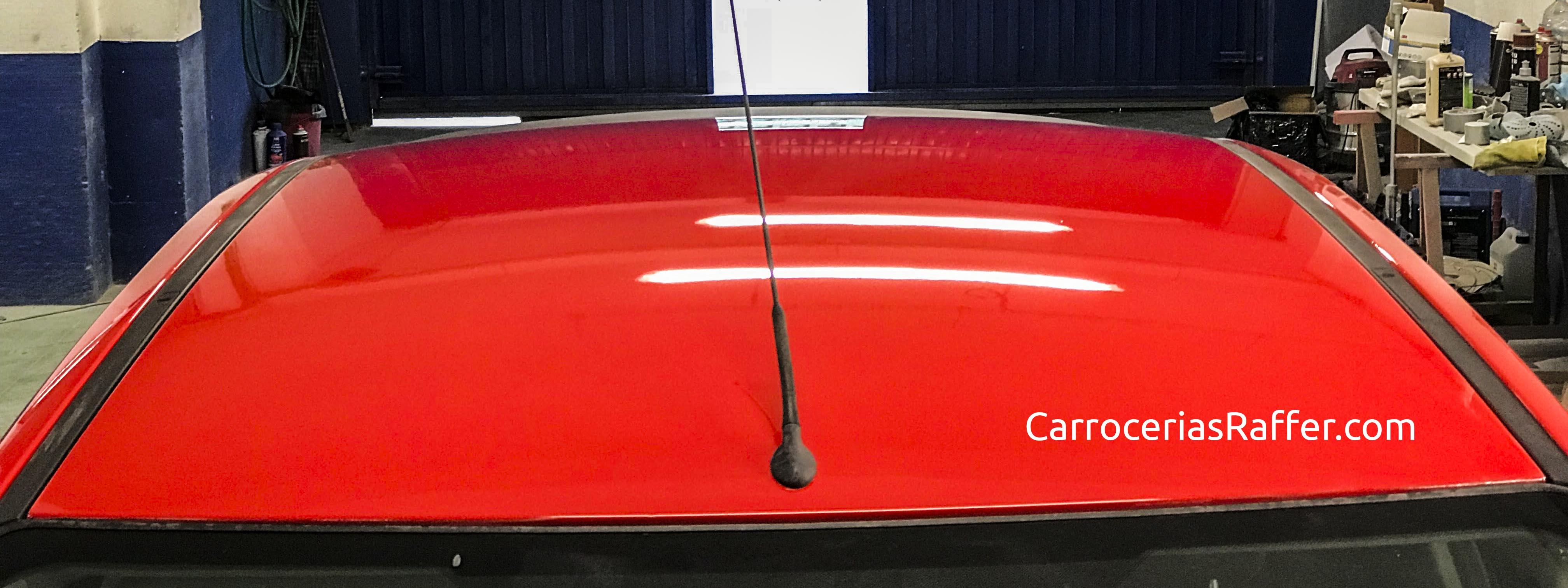 ford focus rojo pintado entero carrocerias raffer hernani