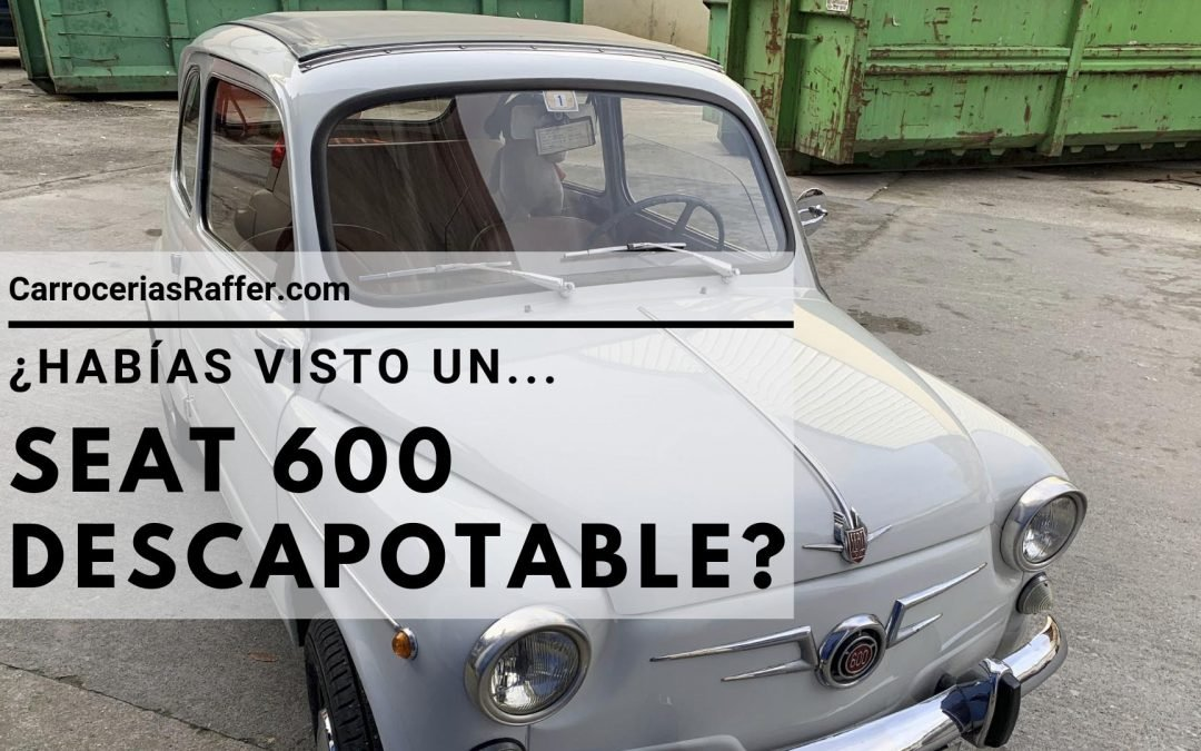 ¿Habías visto un SEAT 600 descapotable?