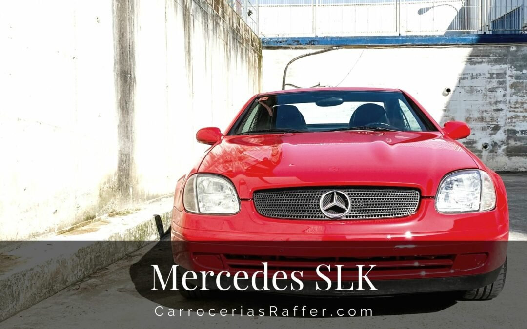 Mercedes SLK Rojo carrocerias raffer taller de chapa